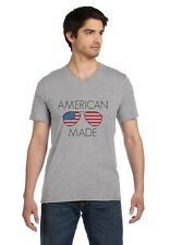 USA Shades - Made in America Sunglasses - July 4th V-Neck T-Shirt National Pride