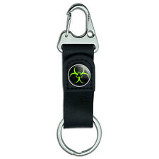 Belt Clip Carabiner Leather Keychain Zombie Outbreak Response Team Symbol