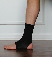 New Black Copper Compression Fit Ankle Sleeve Brace Foot Wear Free USA Shipping