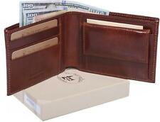 8012 Mens real genuine leather wallet made in Italy, Custom Personal Imprint