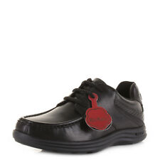 KICKERS YOUTH BOYS KIDS REASAN LACE LEATHER SCHOOL BLACK SMART SHOES SIZE