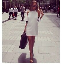 New Women Lady Summer Casual Off Shoulder Strip Evening Party Mini Dress