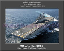 USS Makin Island LHD 8 Personalized Canvas Ship Photo Print Navy Veteran Gift