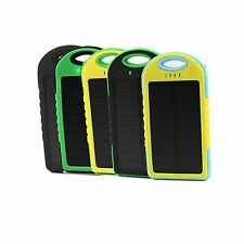 5000mAh External Solar Panel Power Bank Dual USB Battery Charger for All phones
