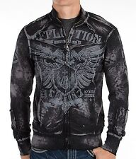 AFFLICTION Mens Sweat Shirt Jacket APPROVAL Tattoo Fight Biker MMA UFC M-XL $88