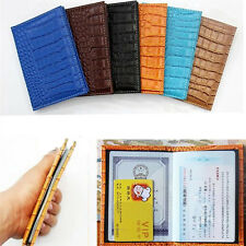US Emboss Leather Passport Ticket Holder Cover Protector Travel Wallet Document