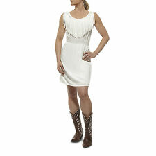 ARIAT - Women's Fringe Dress - White - ( 10012370 ) - New with Defect