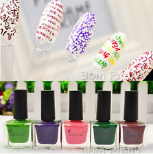 15ml Pink Green Purple Chocolate Nail Art Stamping Polish Nail Varnish Stamp