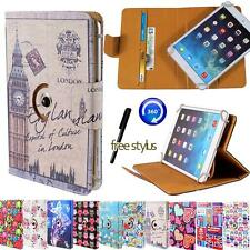 Rotating Stand Wallet Leather Case Cover For Various Vodafone Smart Tab Tablets
