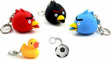 Key chains with LED Torch and Sound (Angry Birds Sound,Duck Sound, Football)