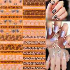 Black White Wild DIY 3D Lace Flower Nail Art Tips Sticker Decal Decoration FT68