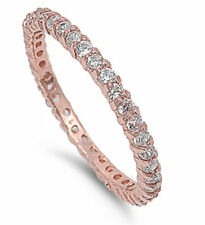 925 Sterling Silver Clear CZ Eternity Band