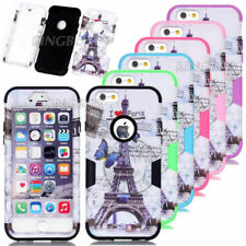 Eiffel Tower Pattern Printed Shockproof Hybrid Case Cover For iPhone 5C 6 6Plus