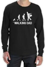 The Walking Dad Evolution - Funny Sarcastic Fathers Parody Long Sleeve T-Shirt