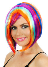Glamour Long Rainbow Bob Costume Wig