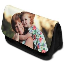 PERSONALISED PENCIL CASE - PRINTED WITH YOUR PHOTO AND TEXT FREE P&P
