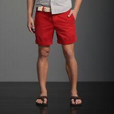 NWT Abercrombie & Fitch  Mens Preppy Fit Shorts All size [28~36] 0105-055 *Red*