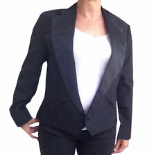 Womens Western Tuxedo Jacket - Texas Style Notch Collar, Satin Trim, NEW