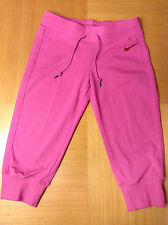 Woman's Nike Cropped Training/Fitness Trousers/Pants - PINK - L - NEW
