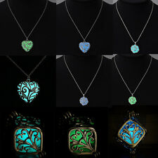 Magic Glow In The Dark Steampunk Pretty Cube Fairy Locket Pendant Necklace Gift