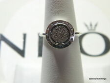 NEW! AUTHENTIC PANDORA RING SIGNATURE RING #190912CZ HINGED BOX INCLUDED