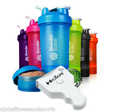 Blender Bottle ProStak 4 in 1 Pro Stak Protein Shaker Cup Shake Myotape Measure
