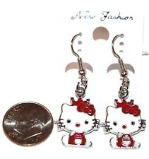 Hello Kitty Baby with Bow & Crown Dangling Hook Earrings- Choose Color