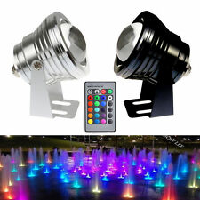 12V 10W Underwater LED Flood Wash Pool Waterproof Light Outdoor Lamp W/ remote