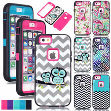 Glossy Pattern Printed Painted TPU Hard Hybrid Shockproof Armor Case For iPhone