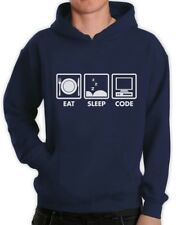Eat Sleep Code - Funny Programmer Coder Hoodie Coding Geek Gift Idea