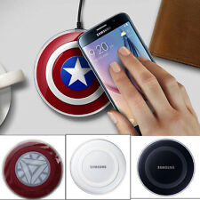 Qi Wireless Charging Pad Charger For Samsung S6 S6 Edge iron man captain america