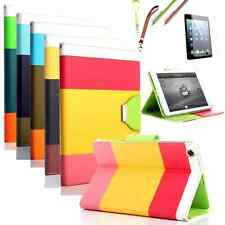 Hybrid Leather Case Cover For Various Apple iPad + Screen Protector + Stylus Pen