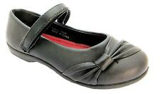 Spot On H2281 Am4 Girl's Formal Single Velcro Strap Mary Jane School Shoes New