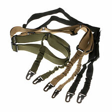 Tactical Dual 2 Two Point Bungee Sling Quick Release Adjust for Rifle Gun Strap