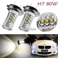 New H7 80W LED White High Power Bright Car Auto DRL Fog Driving Light Lamp Bulb