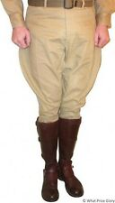 Khaki Cotton Military Style Cavalry Riding Breeches - All Sizes