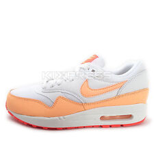 WMNS Nike Air Max 1 Essential [599820-114] NSW Running White/Sunset Glow