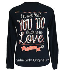 "Girlie Girl Originals ""In Love"" Long Sleeve Navy Unisex Fit T-Shirt"