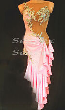 A4656 Cocktail Ballroom women salsa latin samba rumba dance dress Custom made