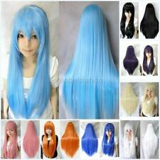 "70cm/28"" Womens Girls Long Straight Cosplay Party Wig Full Wigs Multi-Colors G60"