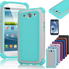 Hybrid Rugged Rubber Hard Case Protective Cover Skin For Samsung Galaxy S3 i9300