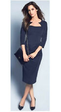 Dress to impress in a smart classy midnight blue ruched bodycon wiggle dress