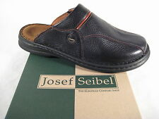 Seibel Clogs Mules Slippers black real leather Soft Leather Footbed