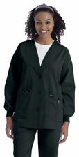 Landau Women's Long Sleeve Three-Button Cardigan Warm-Up Jacket. 7535