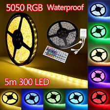 5M-30M 5050 SMD RGB LED LED Strip Light 12V Waterproof + IR Controller + Adapter