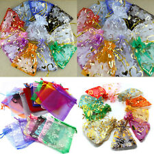 20/50/100Pcs Organza Jewelry Pouch Wedding Party Favor Gift Bag 7*9/12*9/13*18cm
