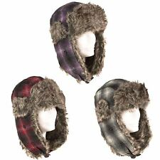 Trapper Winter/Aviator Hat Tartan/Check With Ear Flap Plugin Buckle
