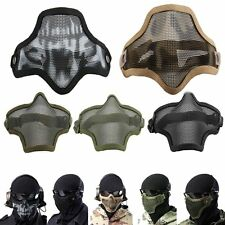 Metal Steel Mesh Protective SKULL Mask Half Face Tactical Airsoft Military Mask