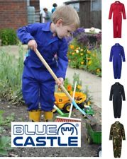 NEW Children's Kids Boys Girls Play Boiler Suit Overall Coverall Red, Blue, Camo