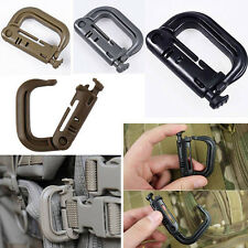 PVC Molle Tactical Hiking Clip Carabiner Locking D-Ring Hook Safety Buckle G1CG
